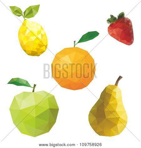 Vector Geometric fruit