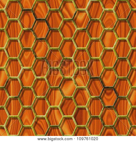 Abstract decorative grille - wood pattern