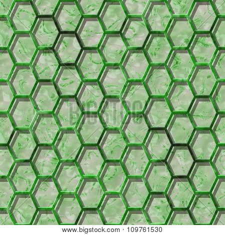 Abstract decorative grille - green pattern