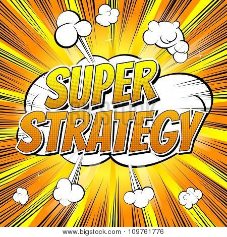 Super Strategy - Comic book style word