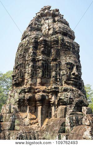 Buddha Faces Of Bayon Temple