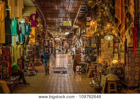 In The Souk Of Marrakesh Medina