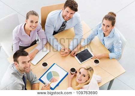 Business people meeting at table