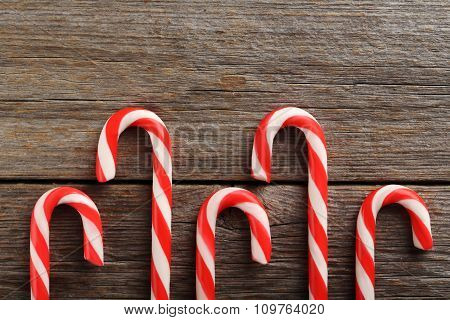 Christmas Candy Can On A Grey Wooden Table