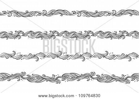 Seamless abstract floral hand-drawn pattern