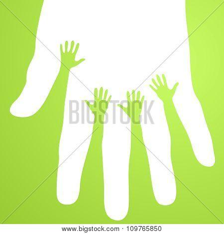Vector Volunteer hands