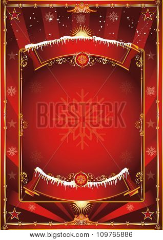 Christmas vintage background. Merry christmas and happy new year. A poster on the christmas theme for your... Enjoy