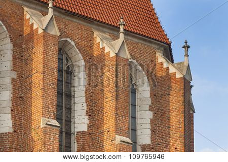 Poland, Krakow, Kazimierz, East End Of Corpus Christi Gothic Church