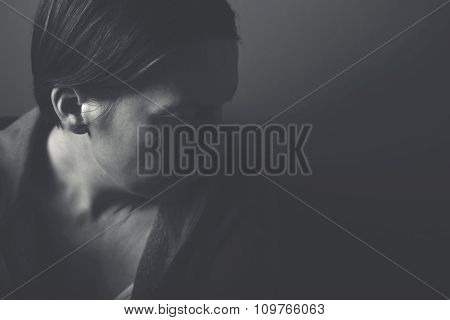 Depressive Woman Portrait