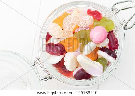 Open Jar Full Of Candies