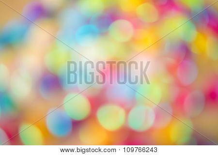 Blurred Imaged Of Colorful Christmas Stars