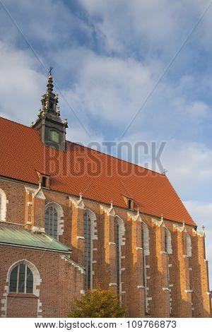 Poland, Kraków, Kazimierz, Nave Of Corpus Christi Gothic Church