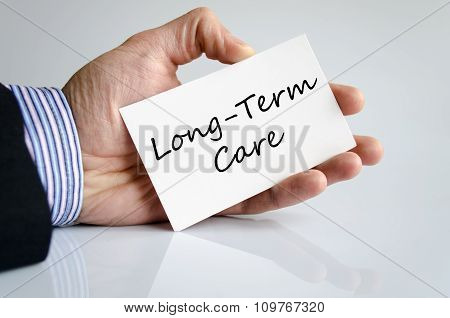 Long-term Care Text Concept