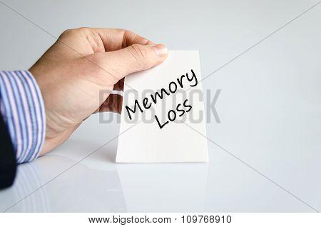 Memory Loss Text Conceptc