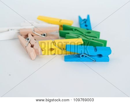 Clothes Peg  , Put On A White Background