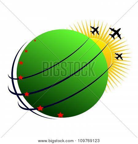 logo globe .