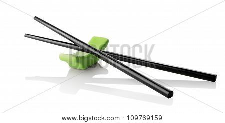 Chinese sticks on stand