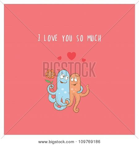 Card With Octopuses