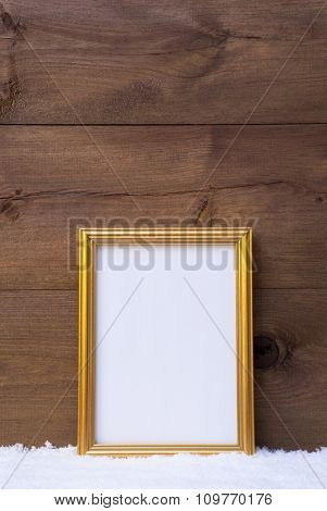 Vertical Frame With Copy Space On Snow