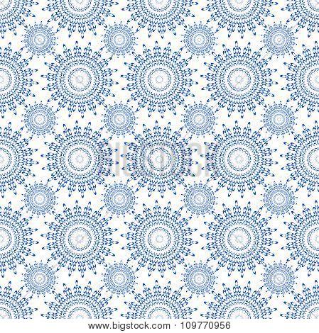 Vector Seamless Blue Ornament