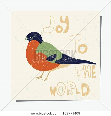 Bullfinch Winter Card