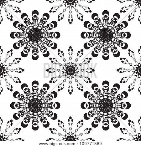 Vector Seamless Black Ornament Background