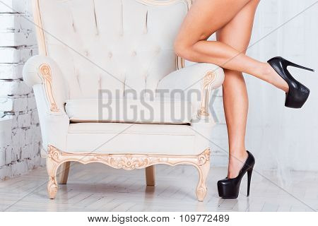 Perfect, sexy, slim and long woman legs