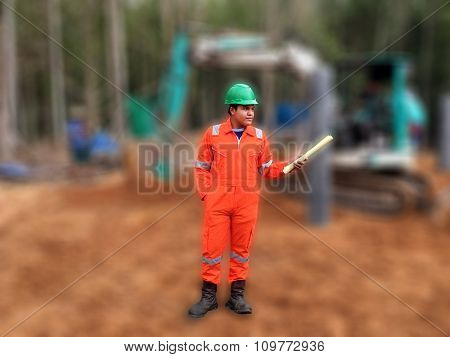 Thai Construction Site Worker