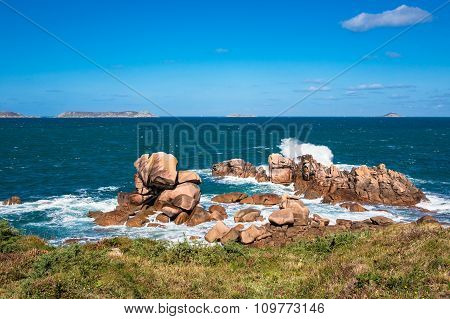 Atlantic Ocean Coast In Brittany
