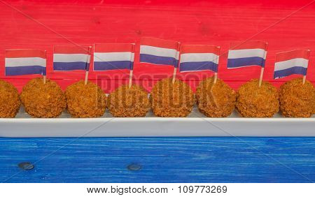 Dutch Snacks With Little Dutch Flags