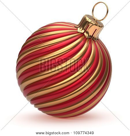 Christmas Ball New Year's Eve Decoration Golden Red Shiny