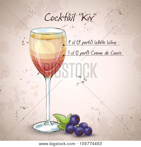 Kir alcohol cocktail