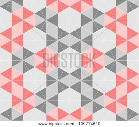Vector Background Of Repeating Geometric Stars And Triangles. Stars Seamless Backdrop