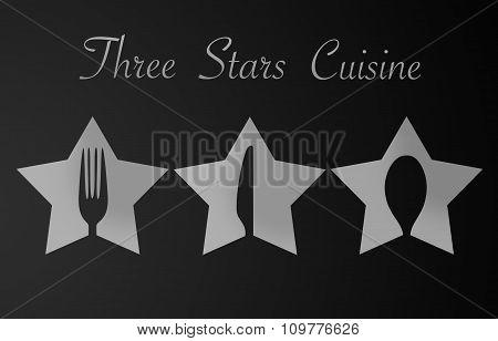 Three Stars Restaurant Sign