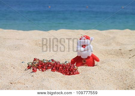 Santa Claus with decorations