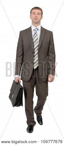 Businessman walking forward