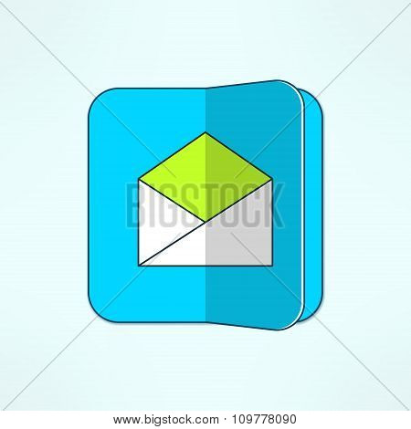 Vector internet mail icon in modern flat design. Email symbol and design element