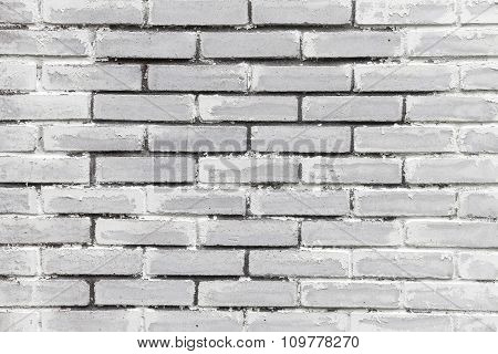 White Brick Wall, Close Up Background Texture