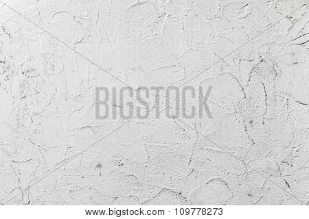 White Concrete Wall With Decorative Plaster Pattern