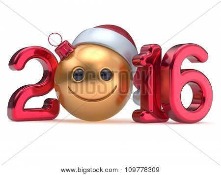 New 2016 Year's Eve Calendar Date Smiley Face Emoticon