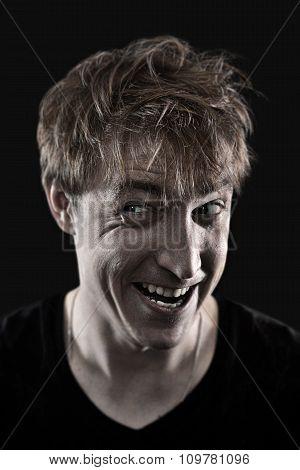 crazy man portrait