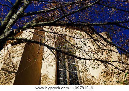 Old Catholic Church And Autumnal Sun