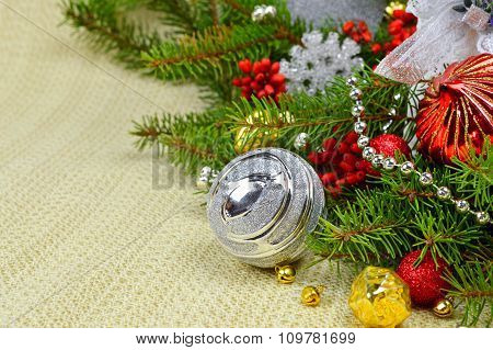 Decorating The Christmas Holiday Table.