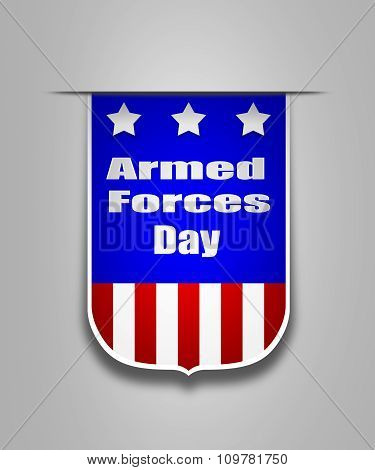 Ribbon On The American Armed Forces Day