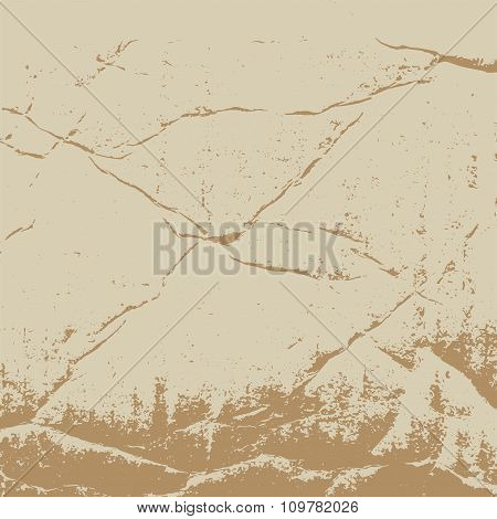 The texture of crumpled cardboard. Old vintage retro brown background for design in the style of gru