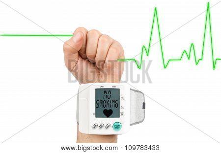 No Smoking on blood pressure monitor
