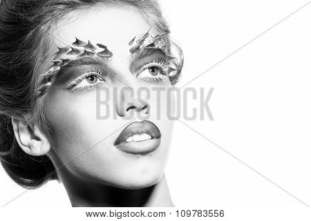Woman With Thorn Makeup
