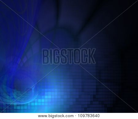 Abstract Background With Dark Blue Mosaic Texture