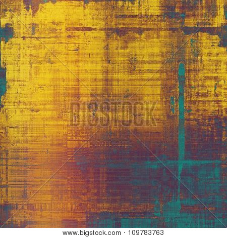 Grunge colorful background or old texture for creative design work. With different color patterns: yellow (beige); brown; blue; purple (violet)