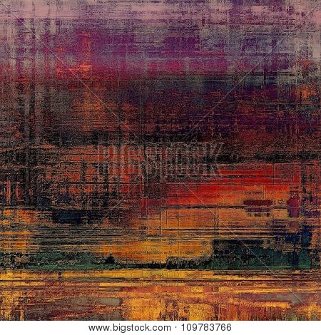 Grunge texture. With different color patterns: yellow (beige); red (orange); purple (violet); green